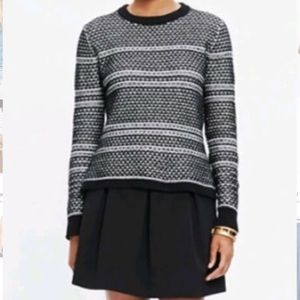 Madewell fineprint pullover sweater black & white